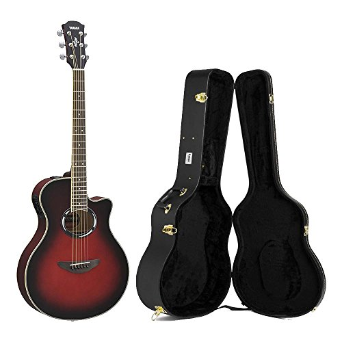 Yamaha APX500III Acoustic/Electric Dusk Sun Red Guitar with Knox Hardshell Case (Red Guitar Case)