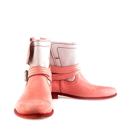 Felmini - Zapatos para Mujer - Enamorarse com Garbo 8378 - Botas Cowboy & Biker - Tela + Cuero Genuino - Varios colores - 0 EU Size Varios colores