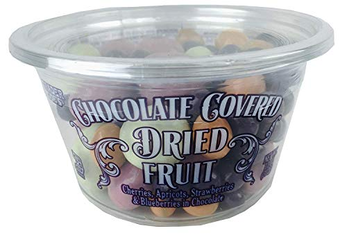 Trader Joe's Chocolate Covered Dried Fruit with Cherries, Apricots, Strawberries, Blueberries in Chocolate, 11oz -