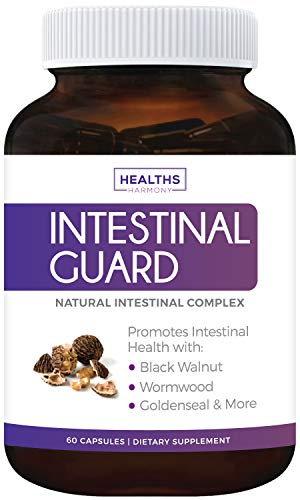 - Intestinal Guard (Non-GMO) Intestinal Support for Humans - Wormwood & Black Walnut - 60 Capsules