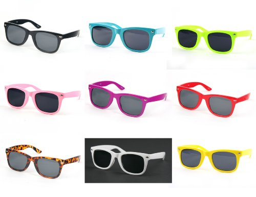 Children Wayfarer Color Frame Sunglasses P1301