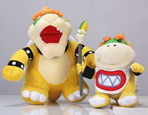 FidgetGear 2Pcs/Lot Super Brothers 10'' King Bowser & 7'' Koopa Jr. Bowser Plush Doll Toy Show One Size by FidgetGear