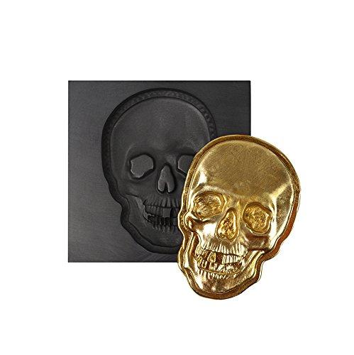 Skull 3D Graphite Ingot Mold for Precious Metal Casting Gold Silver Copper Melting Medium