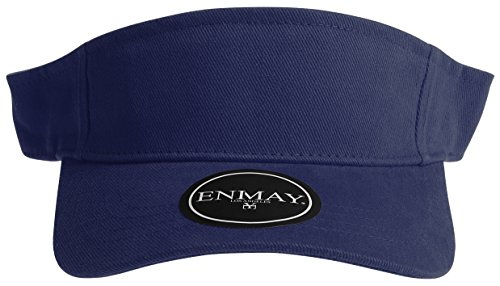 4ae3b0a9b76 Enimay Sports Tennis Golf Sun Visor Hats Adjustable Velcro Plain Bright  Colors Navy. Light Camo