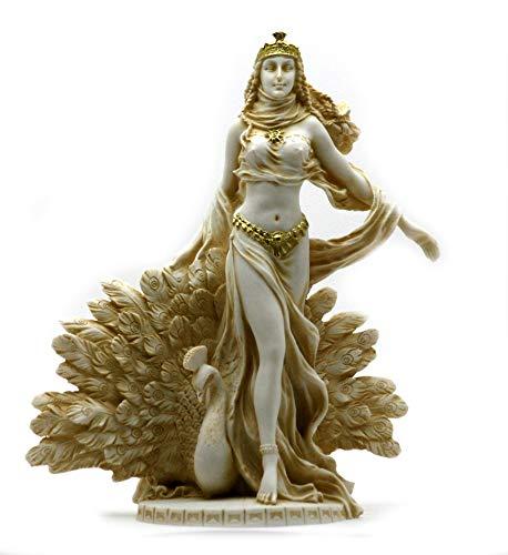 Hera Greek Goddess Queen of Gods with Peacock Statue Sculpture 9.65΄΄