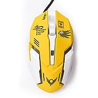 Gaming Mouse ottico gioco mouse retroilluminato, ergonomico USB cablato con 6pulsanti, 2400dpi 4shooting for Pro Game PC computer portatile desktop Mac giallo N9000 Iii