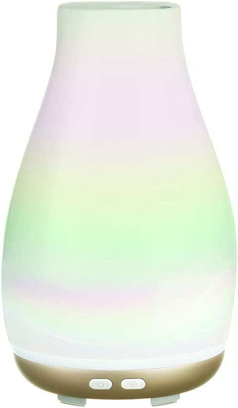 Ellia Blossom Ultrasonic Aroma Diffuser - Cordless Essential Oil Diffuser in Iridescent
