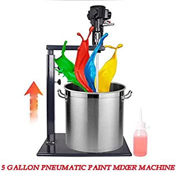 Pneumatic Mixer Machine Stand Adjusted Mixing  f// 5 Gallon 20L Paint Ink Coating