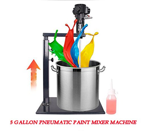 Zinnor 5 Gallon 20L Pneumatic Automatic Paint Mixer Machine Ink Coating Mixing Tool Agitator viscous liquid ink dye Chemicals Industry Stirrer by Zinnor