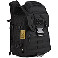 Huntvp 40L Tactical Military Backpack Large Molle Rucksck Waterproof Assault Pack Bag for Camping Hiking Hunting Trekking