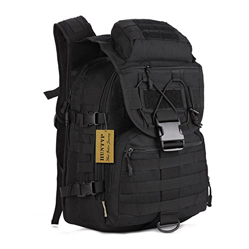 Huntvp 40L Tactical Daypack MOLLE Assault Backpack Pack Military Gear Rucksack Large Waterproof Bag Sport Outdoor For Hunting Camping Trekking