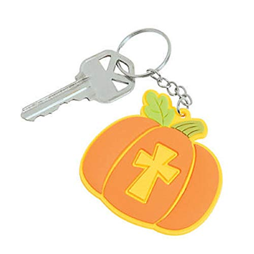 Christian Pumpkin Keychains Halloween Thanksgiving Party Favors 12 -