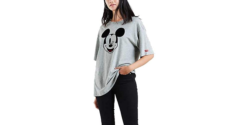 Levi's T-Shirt in Cotone x Mickey Mouse 39392 Grey Size:S