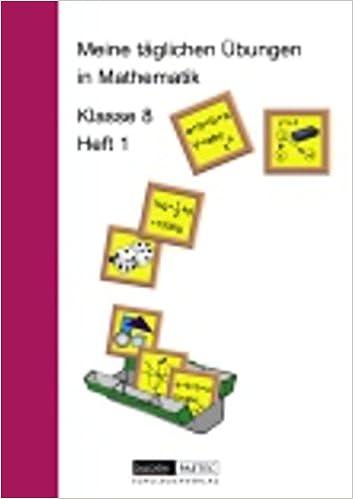 Meine täglichen Übungen in Mathematik Klasse 8 Heft 1: 9783895171123 ...
