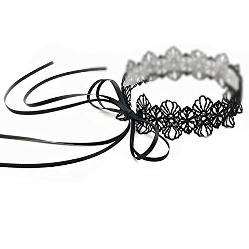 - Black Choker Necklace Lace Choker Necklace Long Bow Black Choker Necklace for Women Girls Gothic Mother Girlfriend Wife Grandma Daughter Fashion Jewelry Adjustable