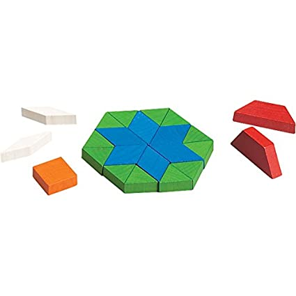 Amazon.com: Didax Educational Resources Pattern Blocks, Wooden, 250 ...