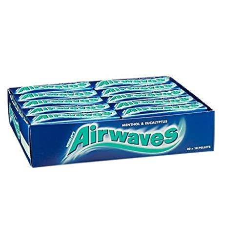 Airwaves Menthol & Eucalyptus Sugarfree Gum 10 Pellets - Pack Of 30