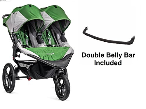 Baby Jogger 2016 Summit X3 Double - Green/Gray with Double Belly Bar
