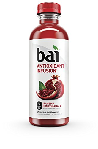 Bai Ipanema Pomegranate, Antioxidant Infused, Flavored Water Drink, 18 Fluid Ounce Bottles, 12 count (Coconut Pomegranate)