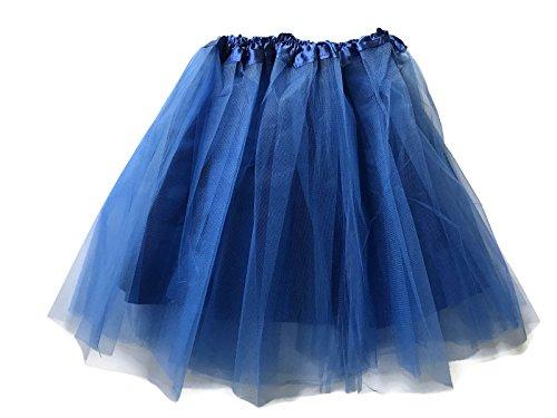 Rush Dance Teen Adult Classic Ballerina 3 Layers Satin Lining Tulle Tutu Skirt (Teen/Adult, Royal Blue) -