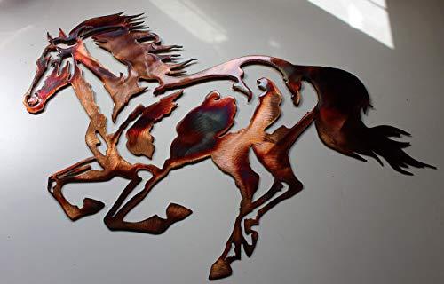Horse Metal Art - Running Horse EQUESTRIAN METAL WALL ART