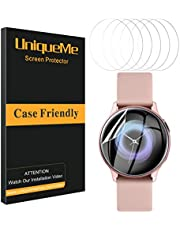 UniqueMe [6 Pack] Protector de Pantalla para Samsung Galaxy Watch Active 2 40mm / Samsung Galaxy Watch Active, [Adsorcion anhidra] [Película Flexible] Soft HD TPU Clear