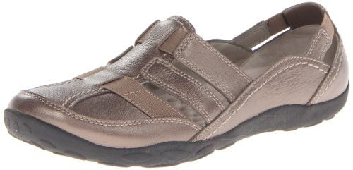 Clarks Women's Haley Stork Flat,Pewter,8.5 M US