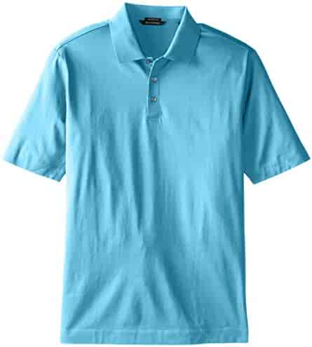 20b5d48b Cutter & Buck Men's Big-Tall Warrick Mercerized Luxury Solid Polo Shirt,  Nautilus,