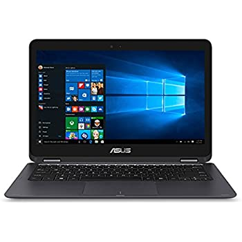 "ASUS Zenbook 13.3"" Full HD 1920x1080 Touchscreen 2-in-1 Laptop PC Intel Core M3-6Y30 Processor 8GB RAM 256GB SSD 802.11AC Wifi HDMI Bluetooth Webcam Windows 10-Gray"
