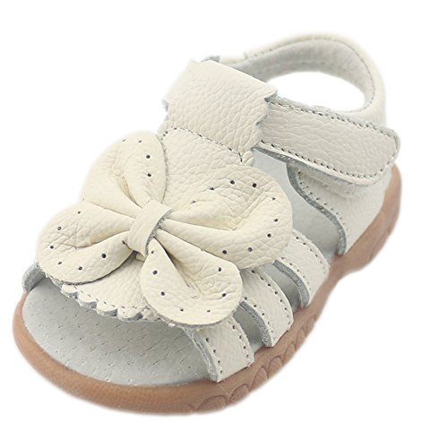 Orgrimmar Girls First Walkers Sunflower Open Toe Sandals (Toddler 5, white 2)