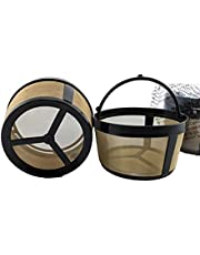 NRP 2-Pack Basket Screen Bottom Gold-Tone Permanent Coffee Filter Universal for 4-5 Cup Drip Coffeemakers