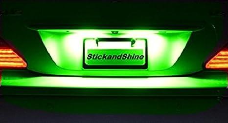SMD LED Luces matrícula puede Saludable Verde adecuados para Nissan Qashqai: Amazon.es: Coche y moto