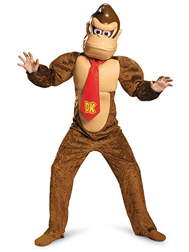 Donkey Kong Deluxe Super Mario Bros. Nintendo Costume, Medium/7-8]()