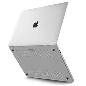 Kuzy - MacBook Pro 15 Case 2017 & 2016, A1707 Rubberized FROSTED/Clear Hard Case (NEWEST Release 2017 & 2016) with Touch Bar & Touch ID Shell Cover 15-inch - FROSTED/Clear
