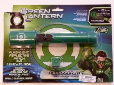 Green Lantern Accessory Kit the Green Lantern Flashlight Reflective Patch & Ring]()