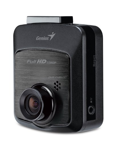 Genius DVR-FHD650DVR FHD Vehicle Dash Cam Video Camera with 2.4-Inch LCD (Black)