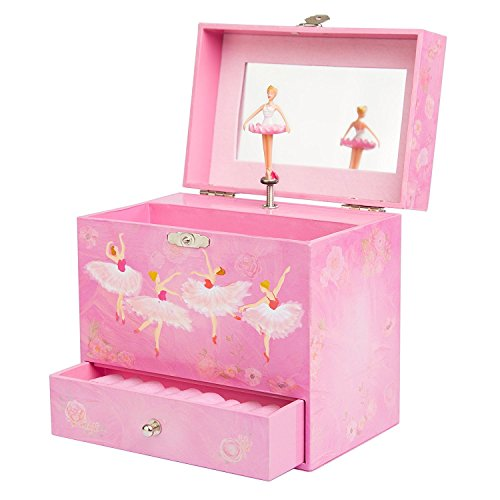 Play Platoon Ballerina Music Box for Girls - Ballet Dancer Jewelry Box Ballerina Treasure Music Box