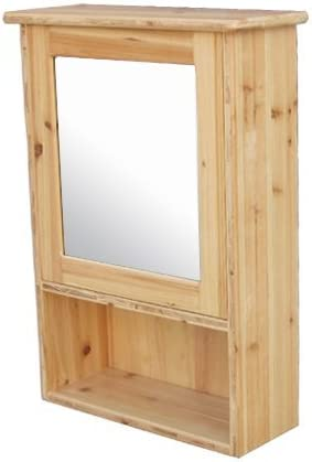 ミラーキャビネット(右開口) 木製 洗面収納 ナチュラル [幅44×高62cm] INK-0702005H