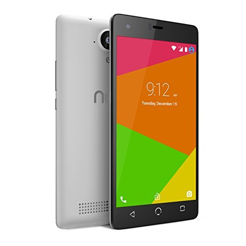 NUU Mobile N4L 5.0'' HD Dual LTE SIM Android Lollipop Smartphone with 2YR Warranty, White by NUU Mobile