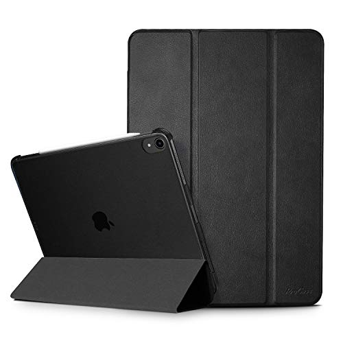ProCase Smart Case for iPad Pro 11 2018 [Support Apple Pencil Charging], Slim Lightweight Stand Case with Translucent Frosted Back Smart Cover for Apple iPad Pro 11 Inch 2018 Release –Black