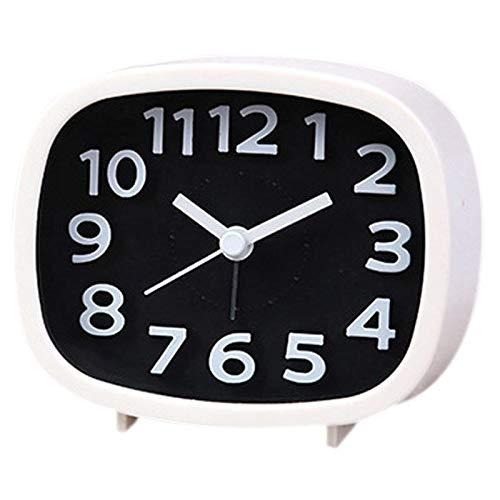Alarm Clocks - Non Ticking Alarm Clock Battery Powered Bedsi