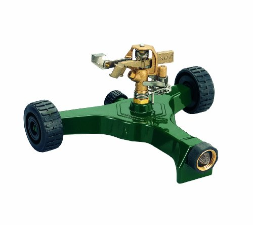 Orbit 56186N Brass Impact Sprinkler on Wheeled Base