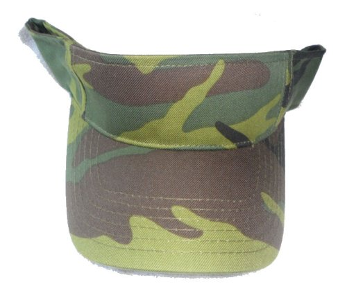 Amazon.com  Army Green Camouflage Visor Hat - Military USMC Camo Golf Cap   Sports   Outdoors 801f03c62b0