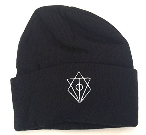 In Flames Embroidered Logo Black Beanie Ski Hat