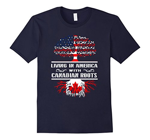 mens-living-in-america-canadian-roots-canada-flag-shirt-large-navy