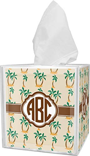 YouCustomizeIt Palm Trees Tissue Box Cover (Personalized) (Palm Tissue Box Cover)