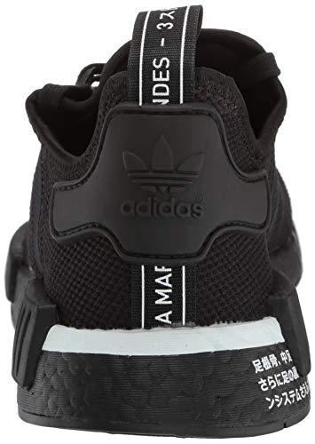 adidas Originals Men's NMD_R1 Running Shoe, Black/White, 4 M US by adidas Originals (Image #2)