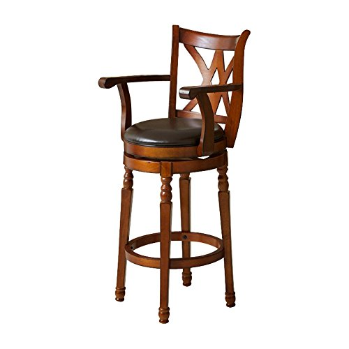 Best Selling Eclipse Armed Swivel Bar Stool, Brown (Armed Bar Stool)