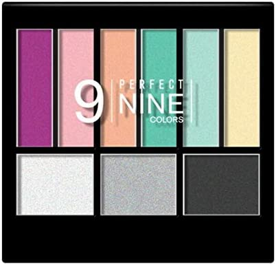 NICKA Perfect 9 Colors Eyeshadow Palette AP019 1s- an expertly Coordinated Eyeshadow & Blush Palette Featuring Nine Different Shades Perfectly Suited for Mixing and Matching