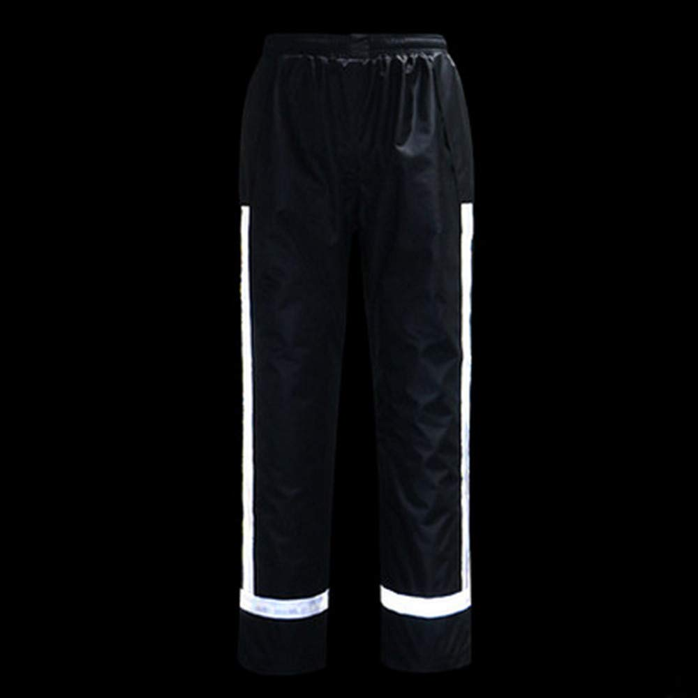 GSHWJS- trash can Waterproof Rain Jacket and Pants, Reflective Safety Raincoat Hooded Poncho Set, Green Reflective Vests (Size : L) by GSHWJS- trash can (Image #5)